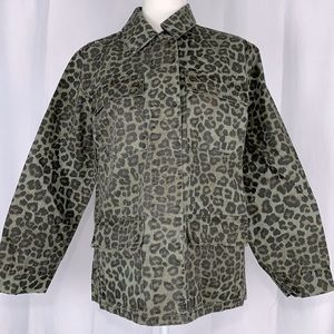 Good American Camo Snap Front Jacket Size 1